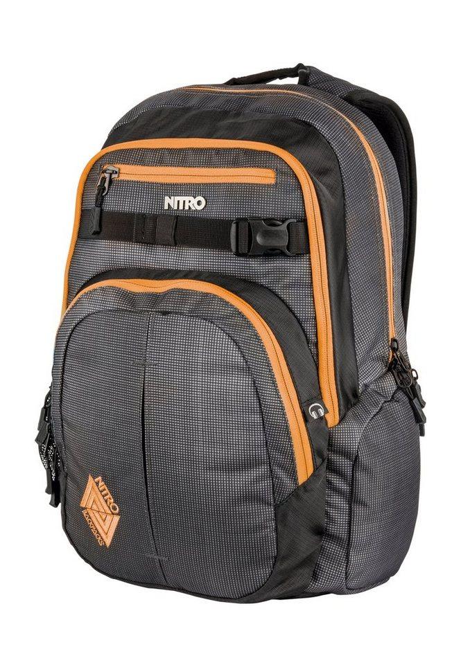 Nitro Schulrucksack, »Chase - Blur Orange Trims« in bunt