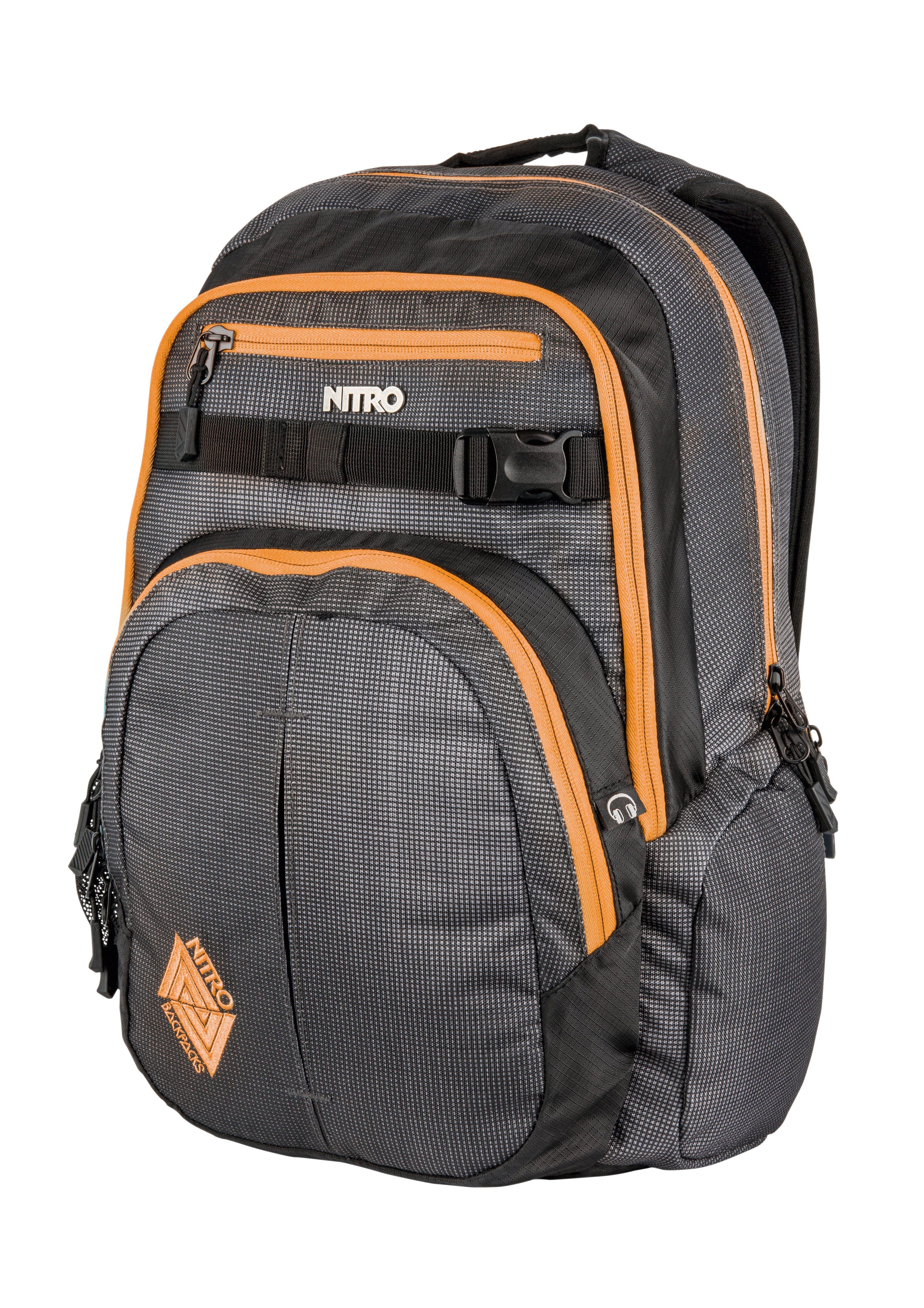 Nitro Schulrucksack, »Chase - Blur Orange Trims«
