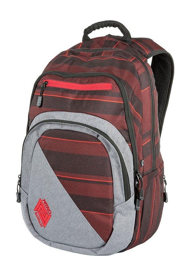 Nitro Schulrucksack, »Stash - Red Stripes« in bunt