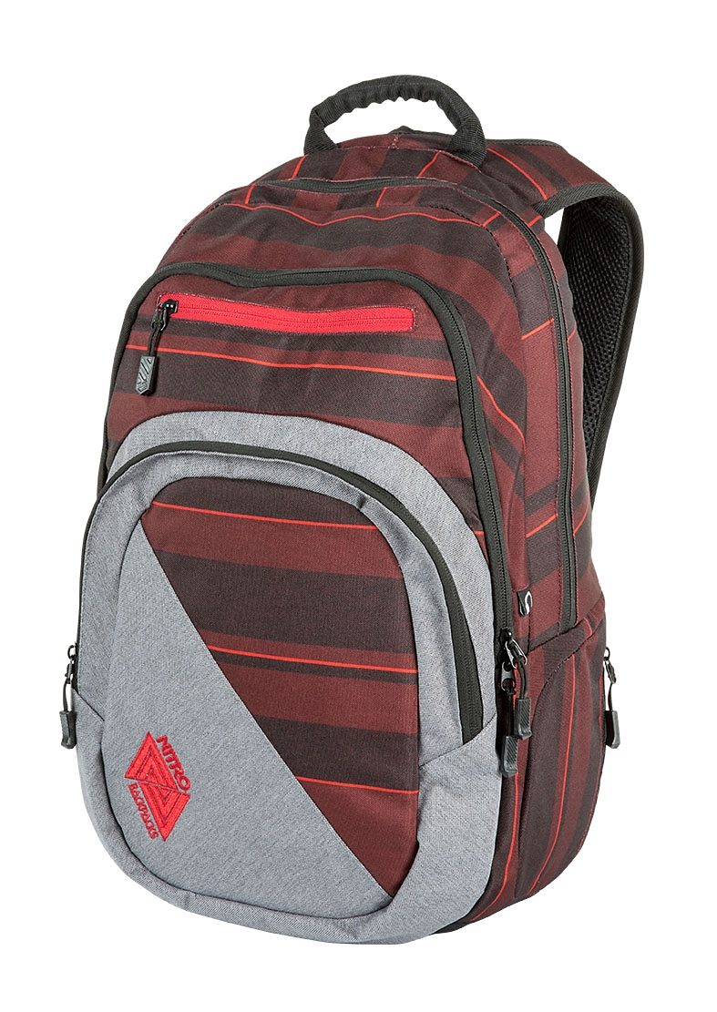 Nitro Schulrucksack, »Stash - Red Stripes«