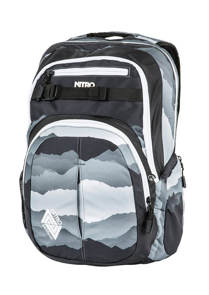 Nitro Schulrucksack, »Chase - Mountains Black/White« in bunt