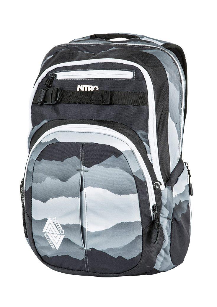 Nitro Schulrucksack, »Chase - Mountains Black/White«