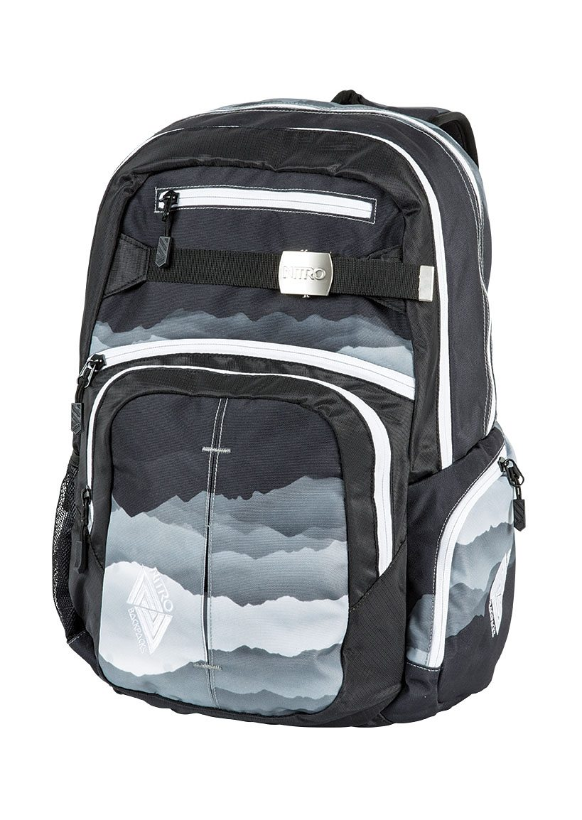 Nitro Schulrucksack, »Hero - Mountains Black/White«