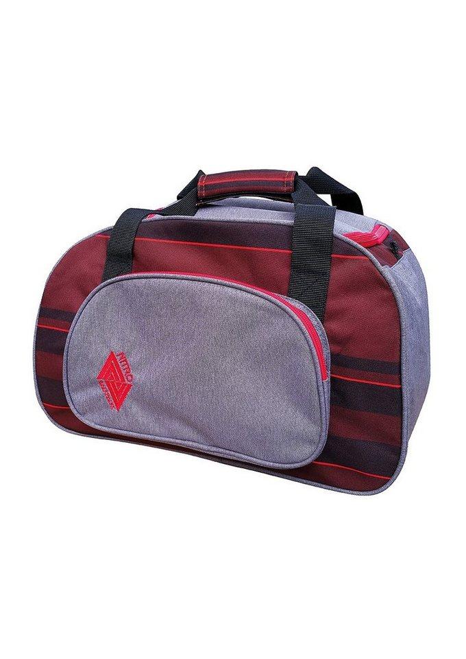 Nitro Reisetasche, »Duffle Bag XS - Red Stripes« in bunt