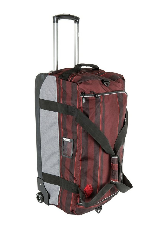 Nitro Trolley-Reisetasche mit 2 Rollen »Team Duffle XL Wheelie - Red Stripes« in bunt