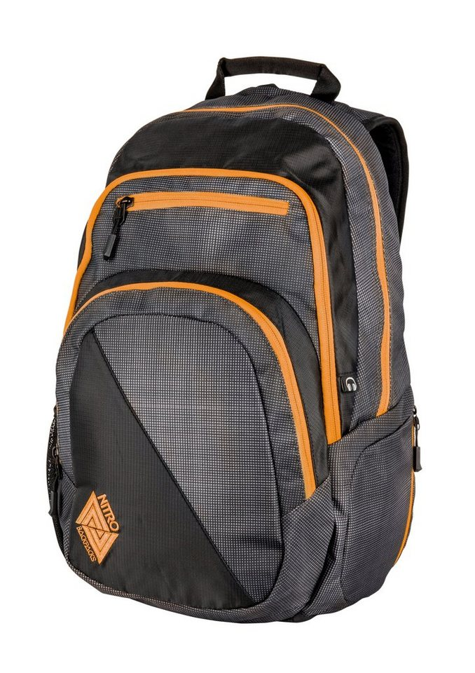 Nitro Schulrucksack, »Stash - Blur Orange Trims« in bunt