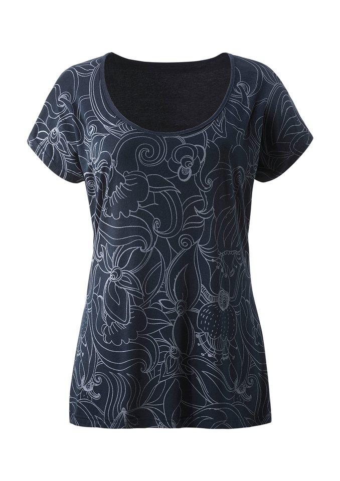 Ambria Shirt mit überschnittenen Schultern in blau