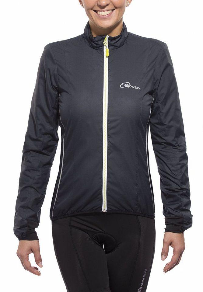 Gonso Fahrrad-Bekleidung »Antonia Active-Jacke Damen black« in schwarz