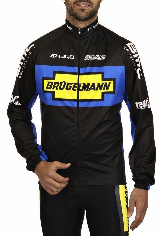 Brügelmann Radjacke »Bioracer Pro Team Windblock Jacke Herren« in schwarz