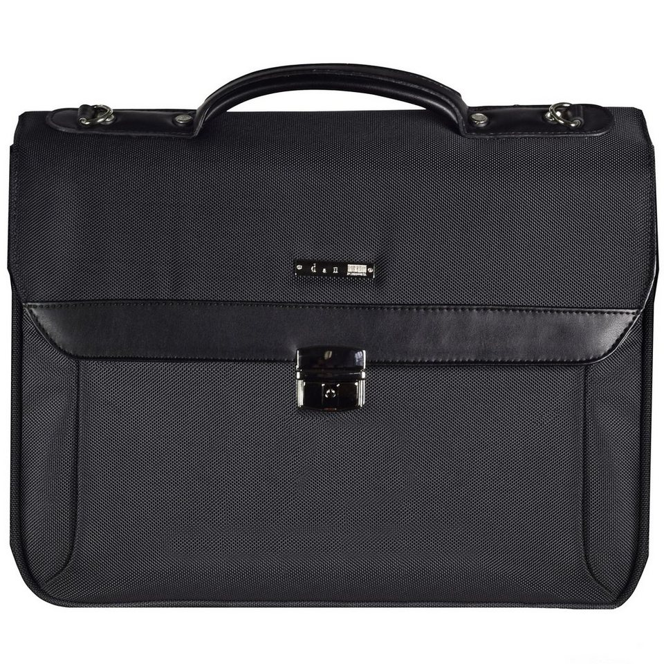 d & n Basic Aktentasche 41 cm Laptopfach in schwarz