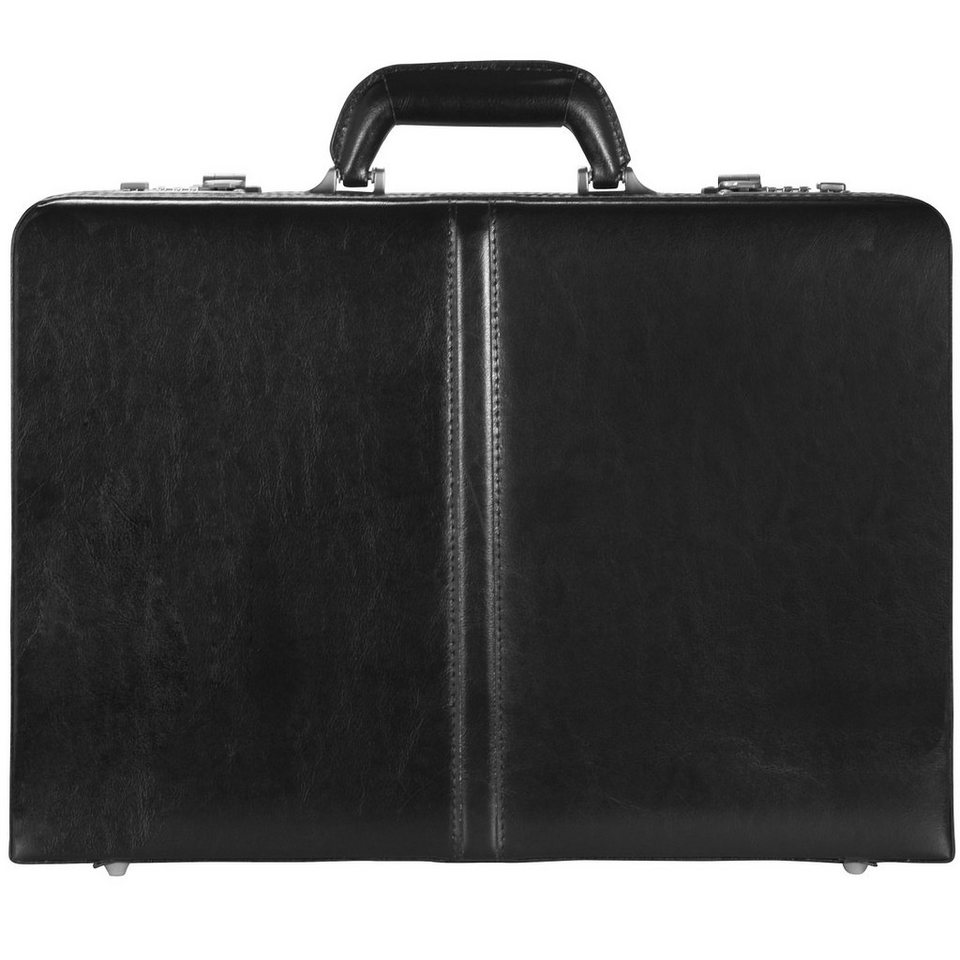 d & n Tradition Aktenkoffer Leder 46 cm in schwarz
