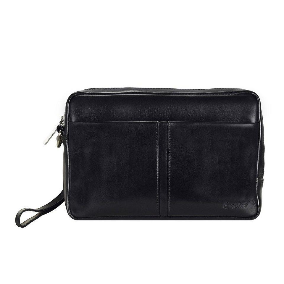 Esquire Brisbane Handgelenkstasche Leder 25 cm in schwarz