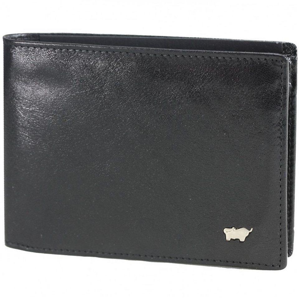 Braun Büffel Basic Geldbörse Leder 12 cm in nachtschwarz
