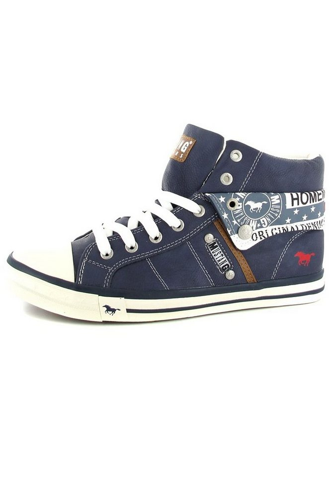Mustang High Top Sneaker in Dunkelblau