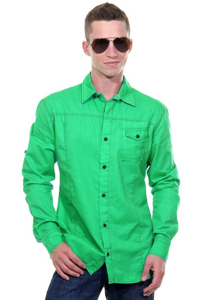 CATCH Langarmhemd slim fit in grün
