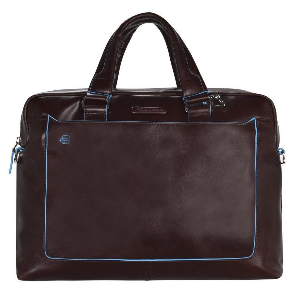 Piquadro Blue Square Aktentasche Leder 40 cm Laptopfach in mahagonibraun