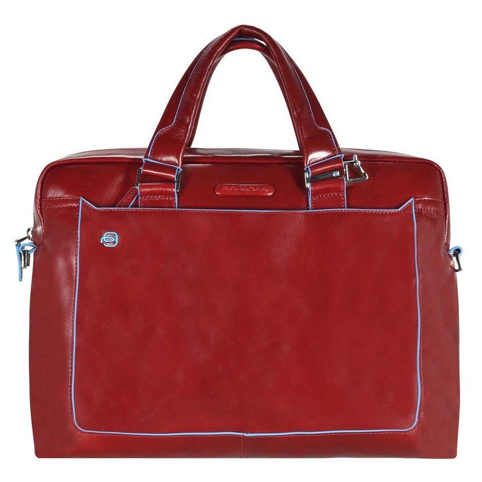 Piquadro Blue Square Aktentasche Leder 40 cm Laptopfach in red