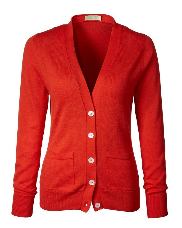 Brigitte von Schönfels V-Cardigan in Orange