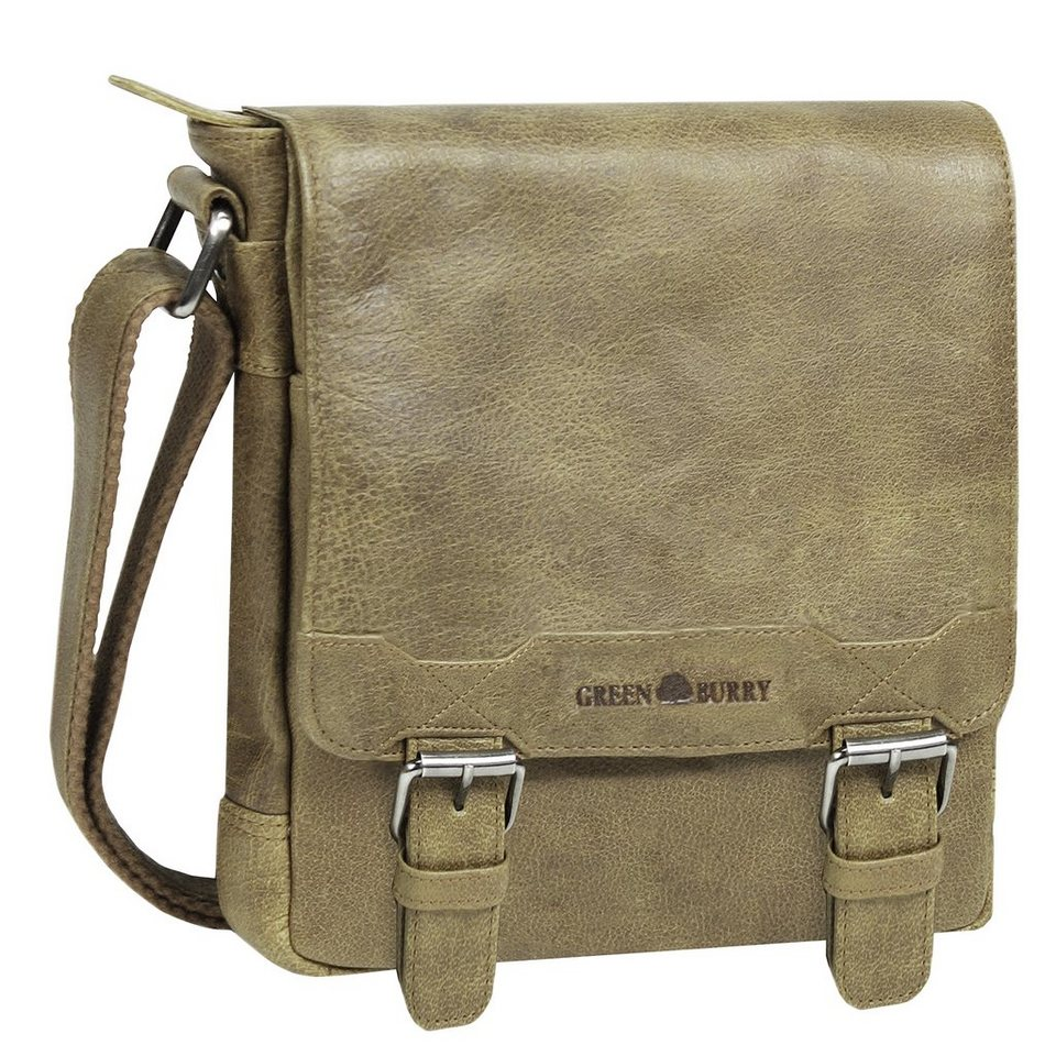 Greenburry Cambridge Pure Nature Umhängetasche Leder 27 cm in sand