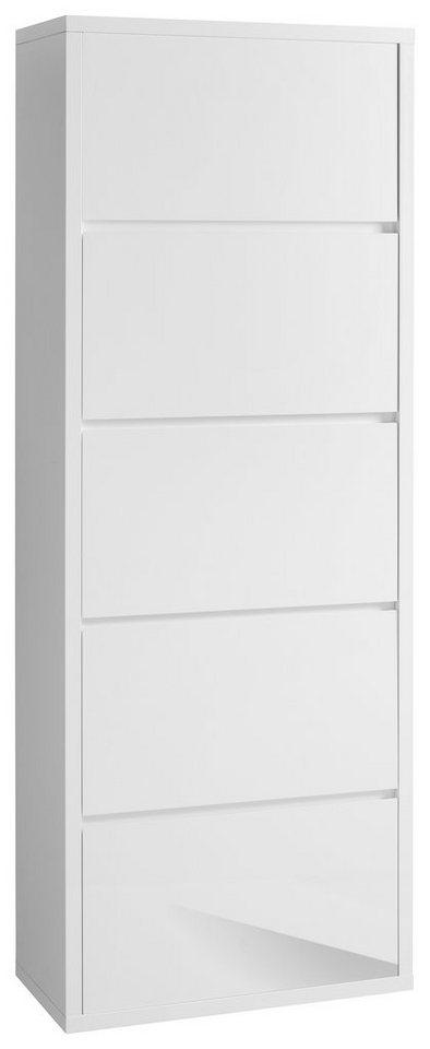 Schuhschrank, HMW, »Spazio« in weiß-weiß