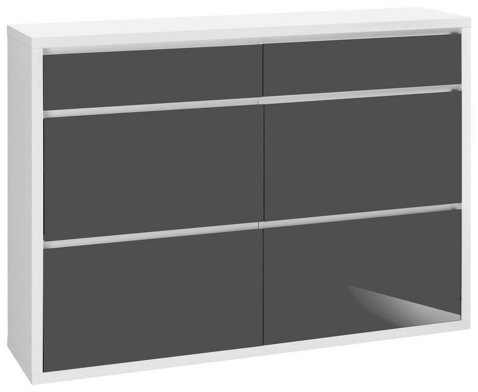 Schuhschrank, HMW, »Spazio« in weiß-anthrazit