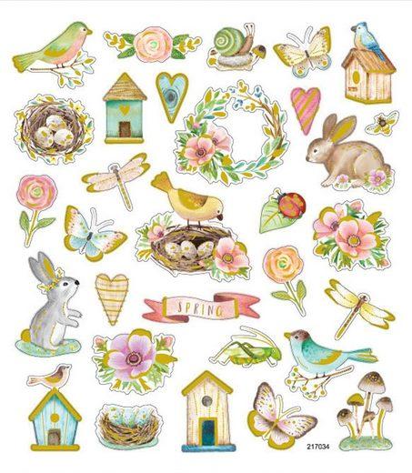 VBS Sticker »Springtime«, 31 Stück, selbstklebend