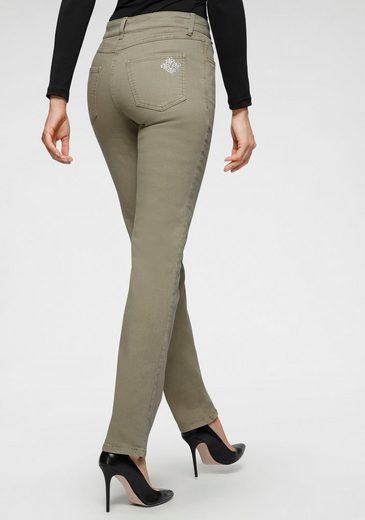 MAC Stretch-Jeans »Melanie Bees« Kleine Bienen-Verzierungen an der hinteren Tasche