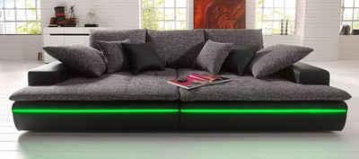 Schwarzes Ledersofa sofa in schwarz kaufen otto