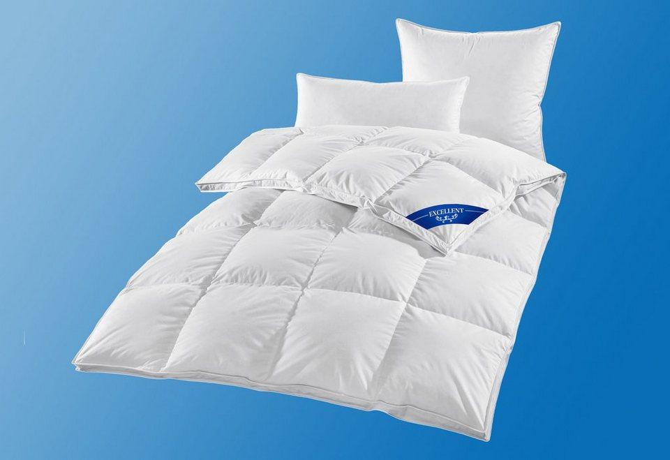 Bettdeckenset Excellent Premium, Warm, 100% Gänsedaunen