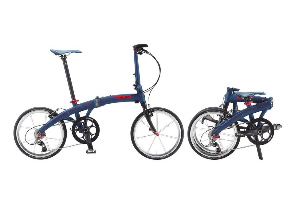 Faltrad, 20 Zoll, 10 Gang Kettenschaltung, »MU LT10«, Dahon in blau