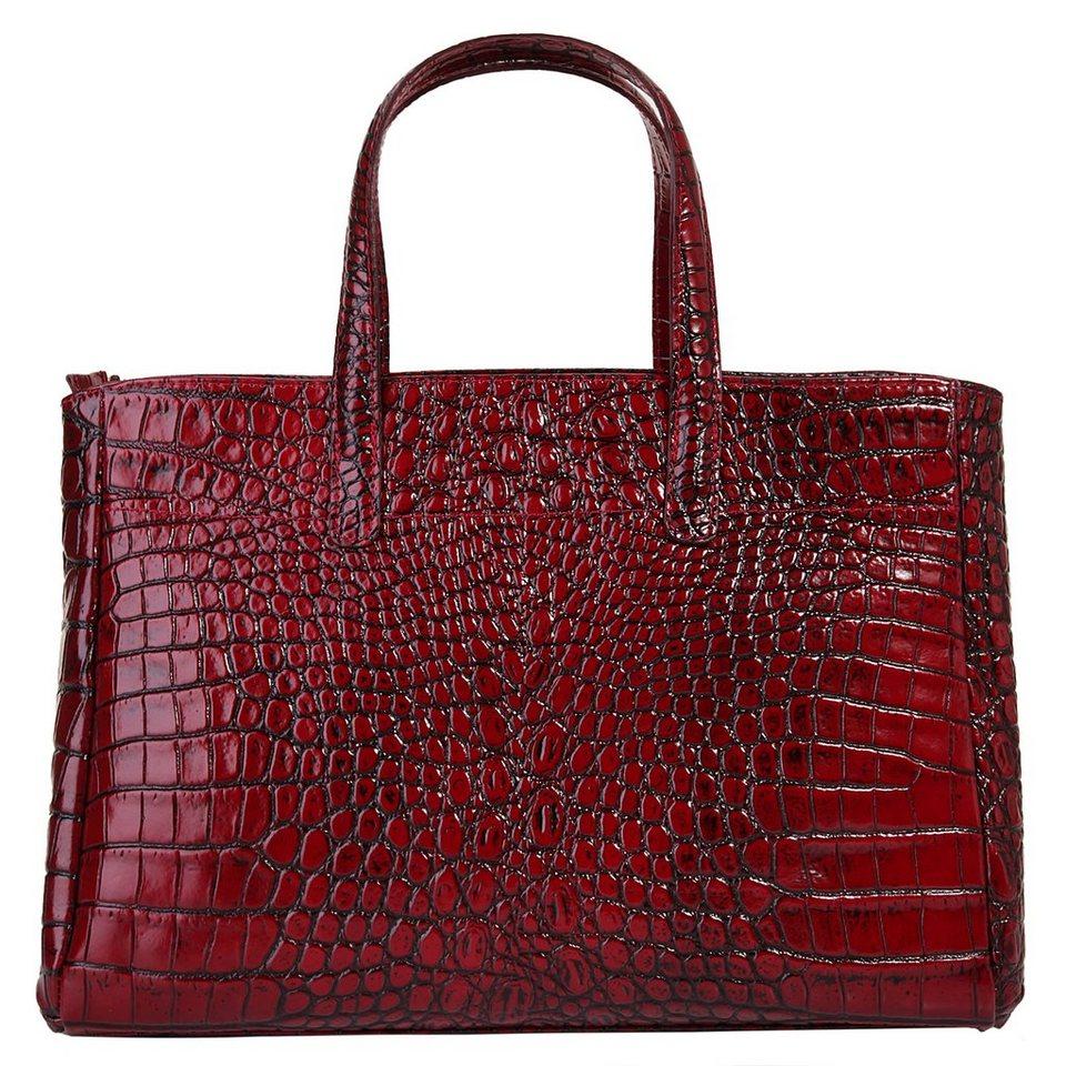 Cluty Leder Damen Handtasche in rot