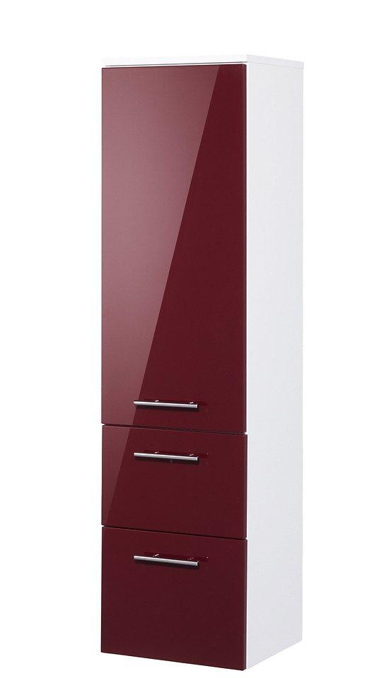 Optifit Midischrank »OPTIpremio 2043«, Breite 40 cm in bordeaux-rot/weiß matt