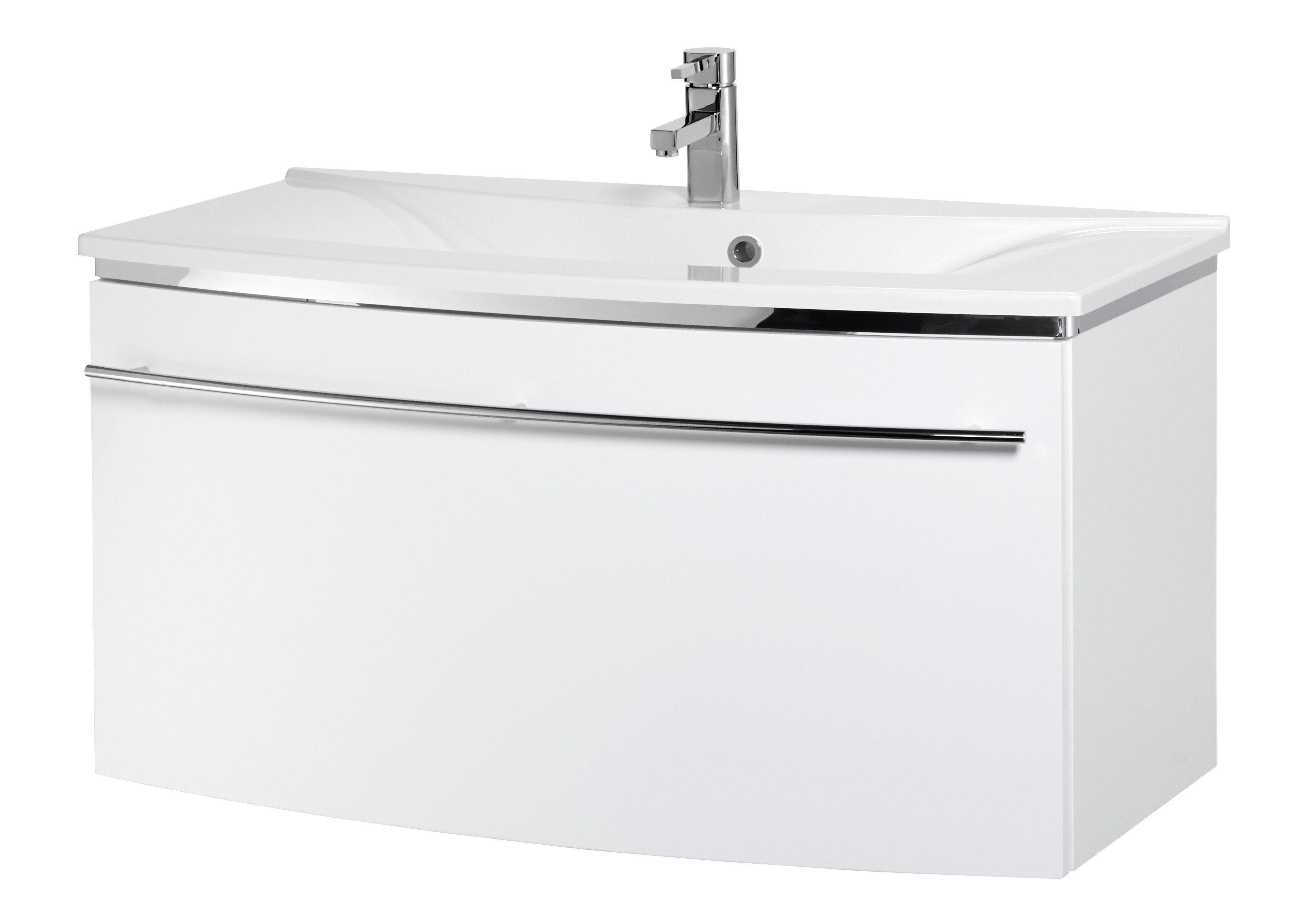 Waschtisch »OPTIpremio 2043«, Breite 92,4 cm, (2-tlg.) | Bad > Badmöbel > Badmöbel-Sets | Weiß