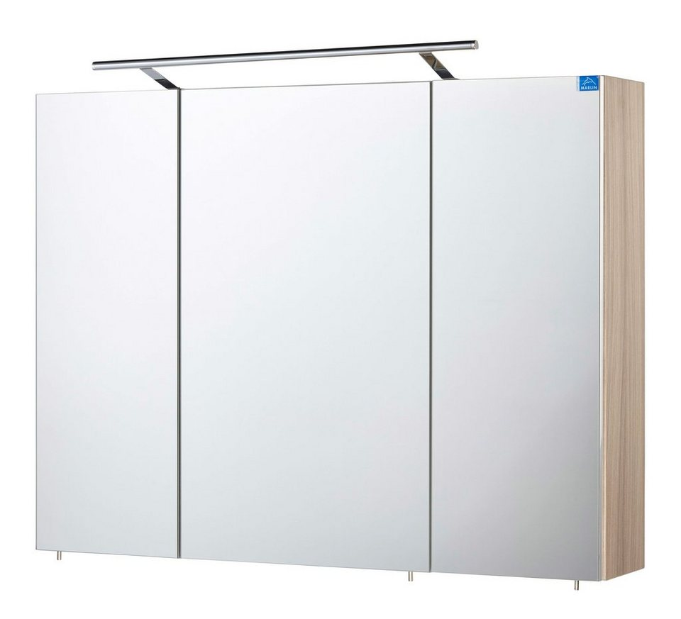 Spiegelschrank »OPTIpremio 2043« Breite 90 cm, mit LED-Beleuchtung in kastaniefarben