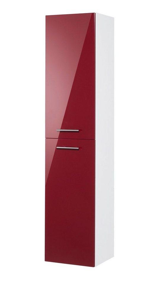 Hochschrank »30 R OPTIpremio 2043«, Breite 40 cm in bordeaux-rot/weiß matt