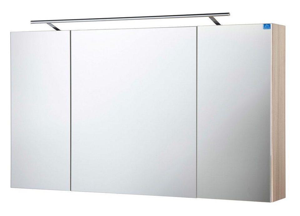 Optifit Spiegelschrank »OPTIpremio 2043« Breite 120 cm, mit LED-Beleuchtung in kastaniefarben