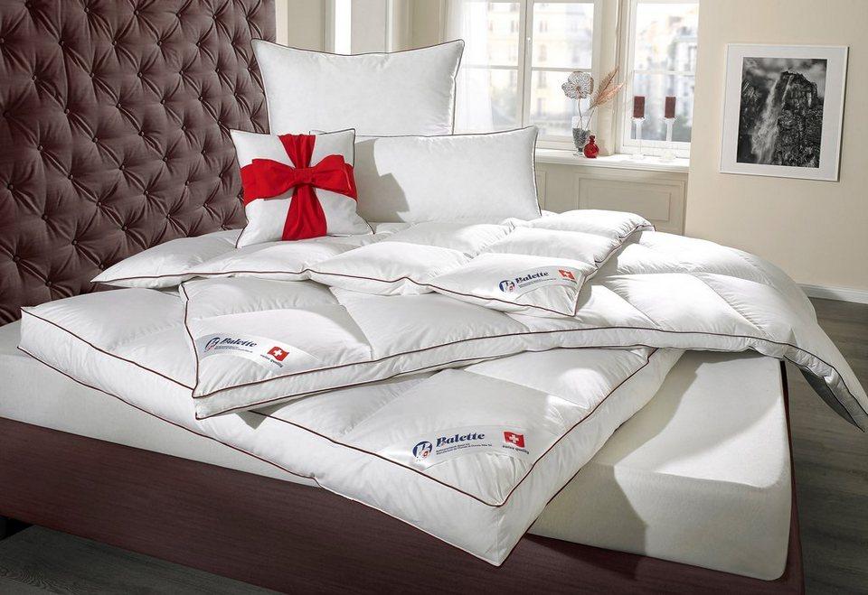 set federbettdecke kopfkissen balette leicht 1 gratis kissen online kaufen otto. Black Bedroom Furniture Sets. Home Design Ideas