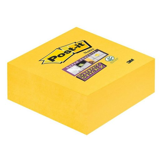 SUPERSTICKY Haftnotizwürfel narzissengelb 76x76 mm 270 Blatt »Notes«