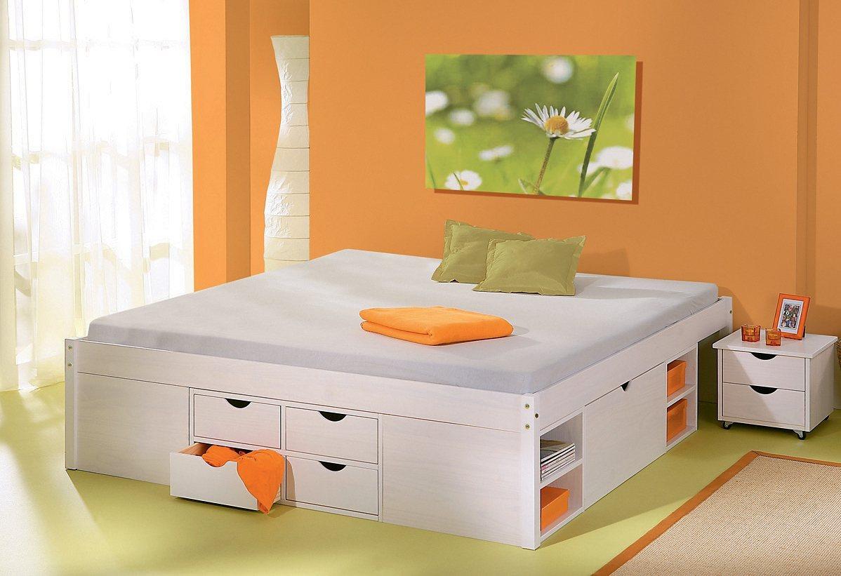 massiv holz stauraumbett machen sie den preisvergleich bei nextag. Black Bedroom Furniture Sets. Home Design Ideas