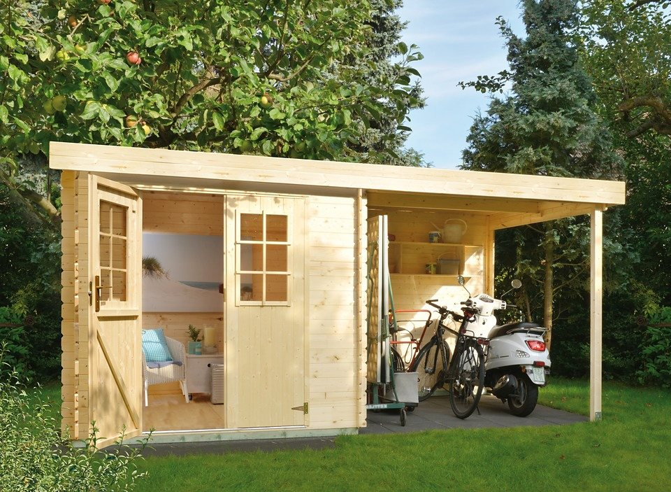 Gartenhaus »LV 329«, BxT: 360x200cm in natur
