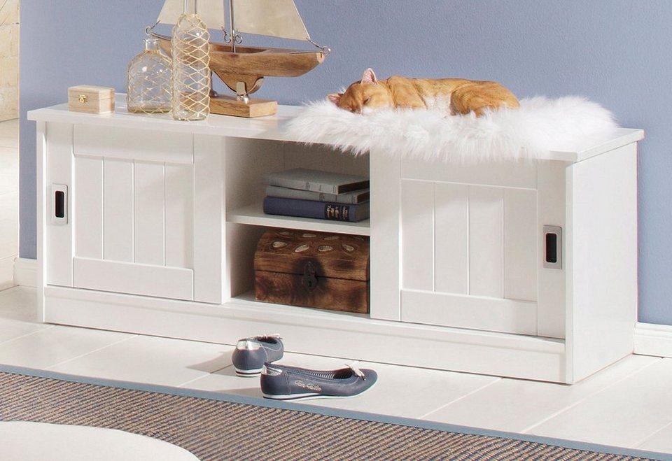 Sitzbank, Home affaire, Breite 122 cm, »Nekso« in weiß