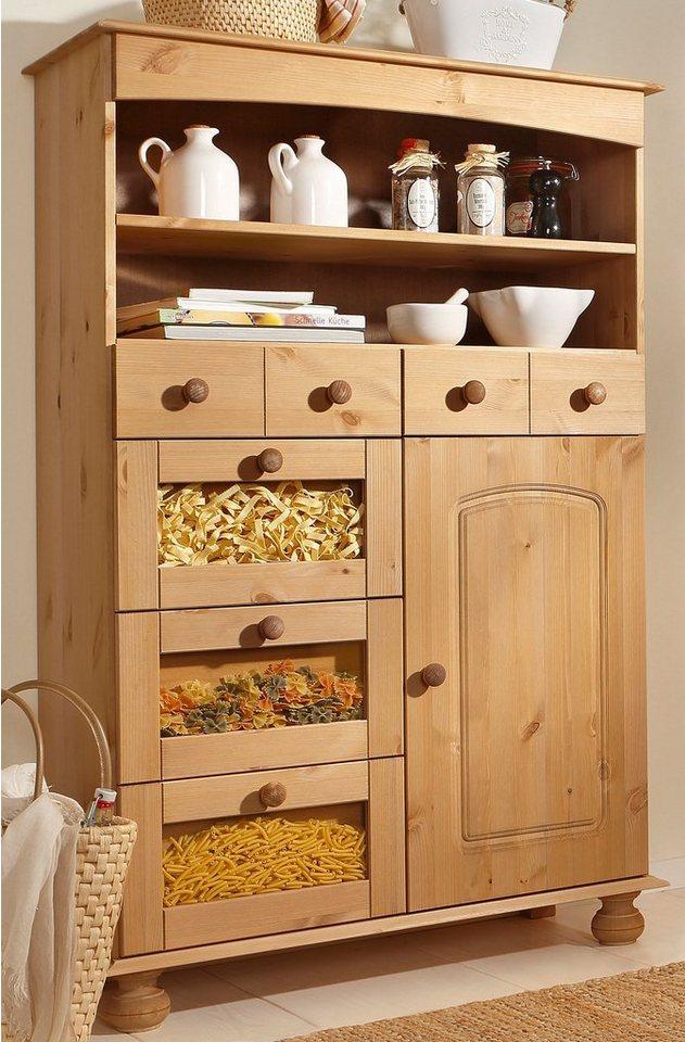 home affaire pastaschrank h he 130 cm kaufen otto. Black Bedroom Furniture Sets. Home Design Ideas