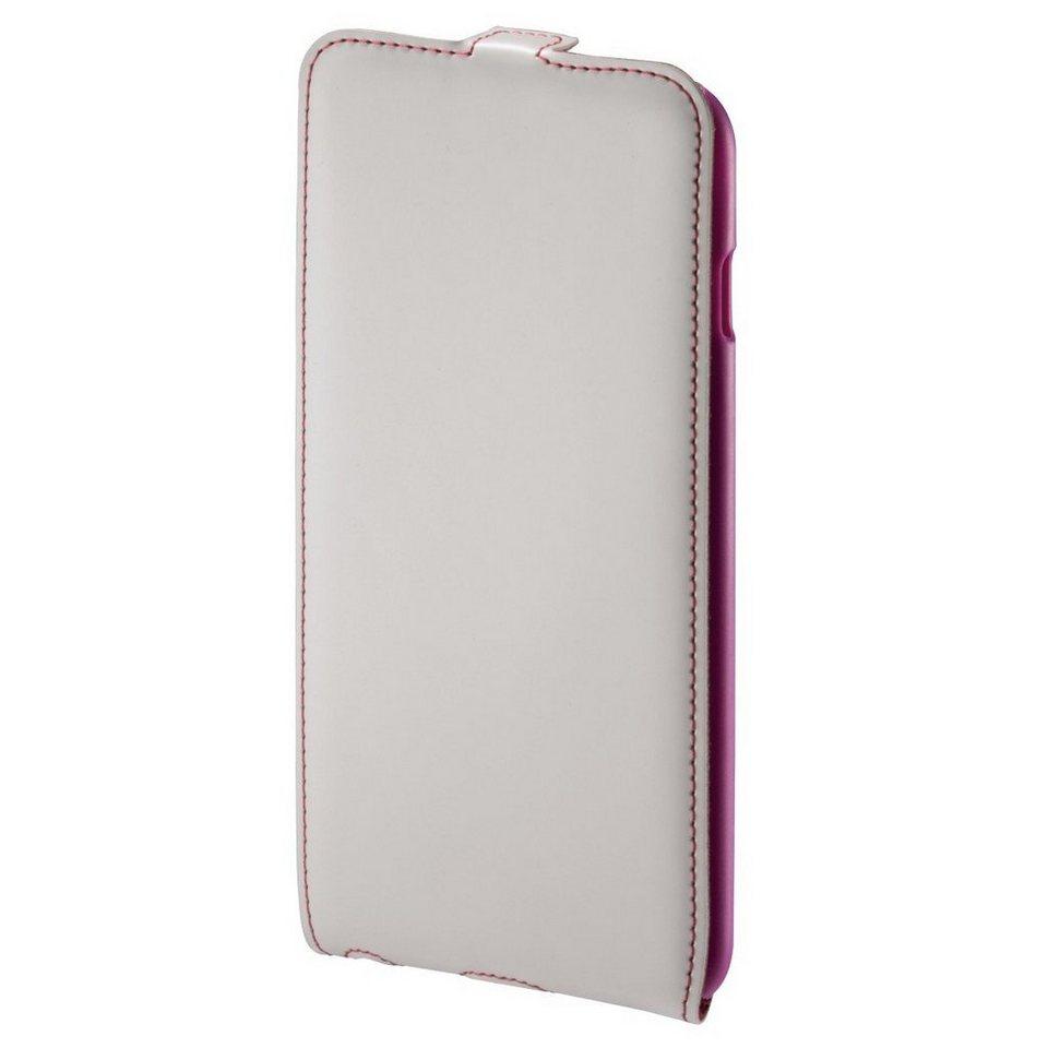 Hama Flap-Tasche Guard Case für Apple iPhone 6 Plus, Weiß/Pink in Weiss
