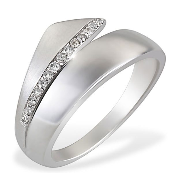 goldmaid Damenring White Diamonds 925/- Sterlingsilber 14 Diamanten 0,10 in silberfarben