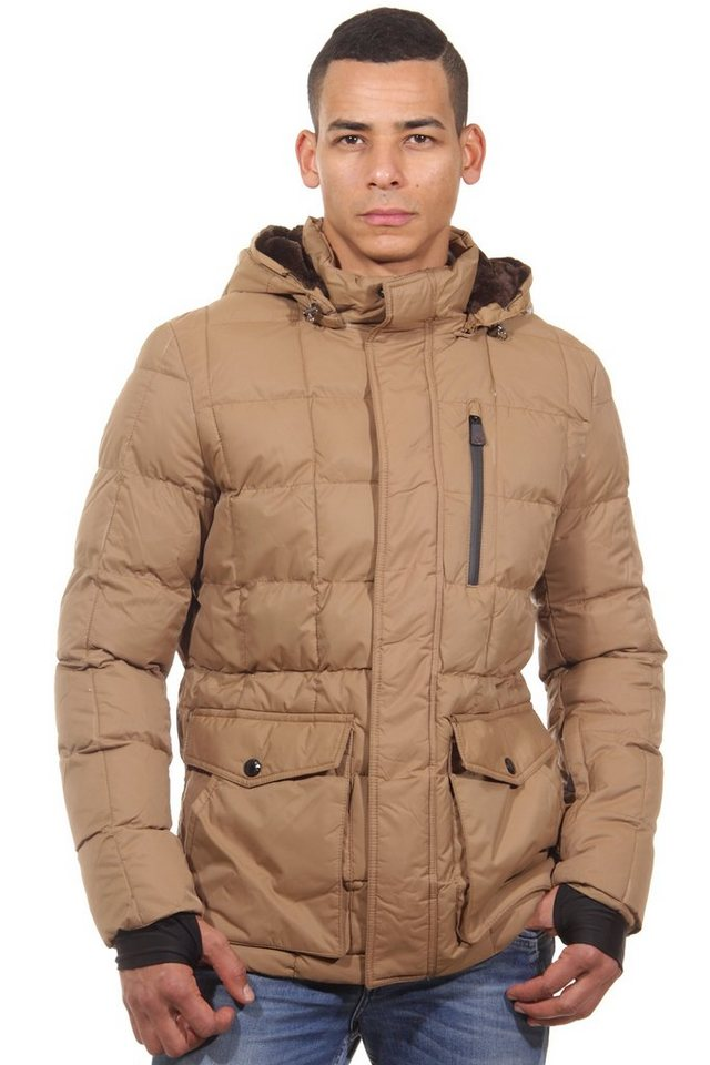 R-NEAL Steppjacke regular fit in camel