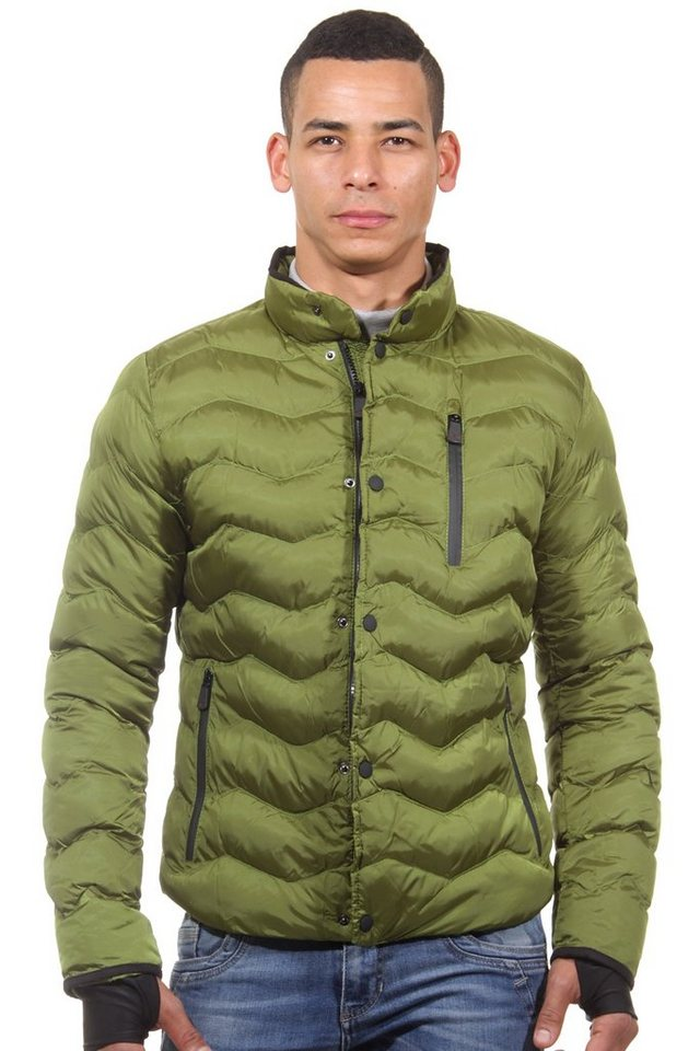 R-NEAL Steppjacke slim fit in grün