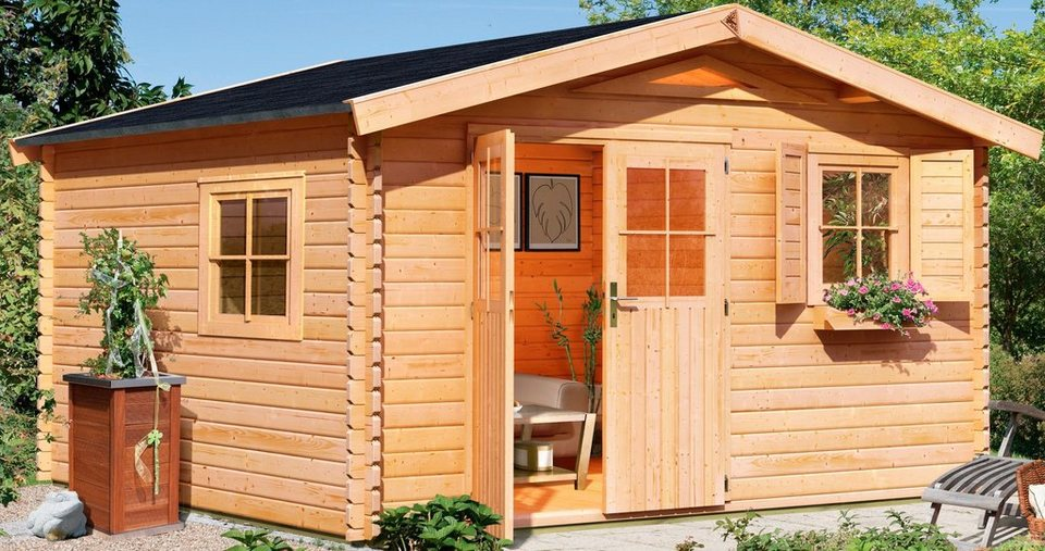 Gartenhaus »Köpenick 8«, BxT: 492x492 cm in natur
