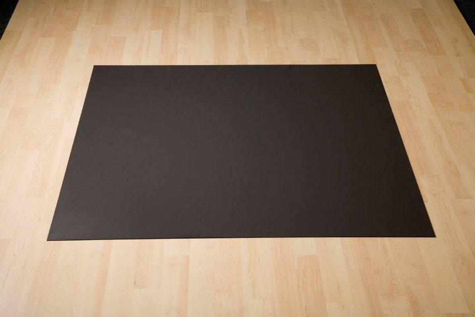 Stahlbodenplatte »Rechteck«, schwarz, zum Funkenschutz in schwarz