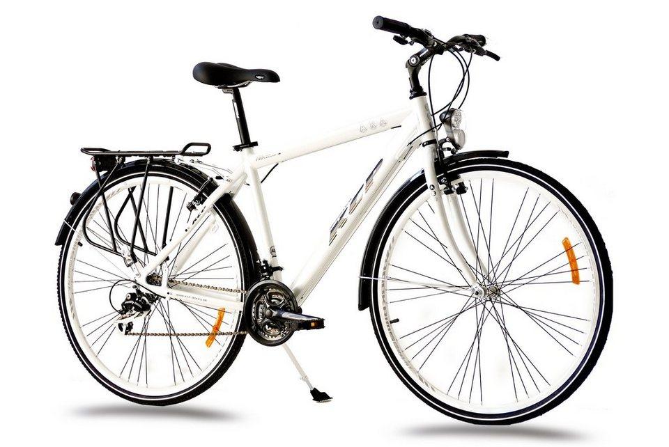 Trekkingrad Herren »ARA Gent«, 28 Zoll, 21 Gang, V-Bremsen in weiß