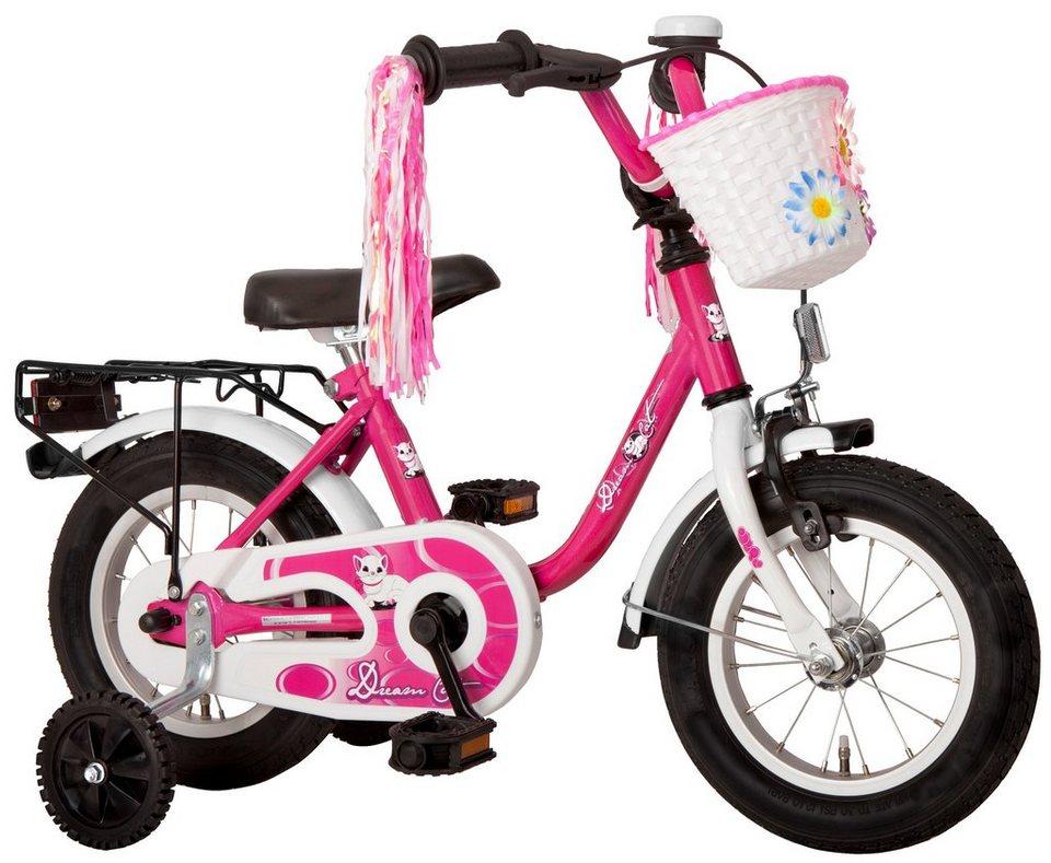 Kinderfahrrad Mädchen »Dream Cat«, 12,5/14/16/18 Zoll, 1 Gang, Rücktrittbremse in rosa